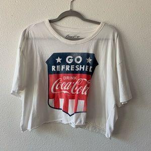 CocaCola logo Cropped T Shirt